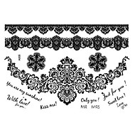 A Piece Of Personality Whimsy The Black Lace Tattoo Stickers A005