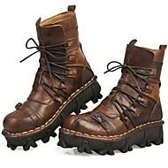 tanie Obuwie męskie-Męskie Komfortowe buty Skóra nappa Jesień / Zima Botki Turystyka górska Jasnobrązowy / Impreza / bankiet