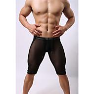 Herre Snørelukning / Gennemsigtig Løbeshorts - Hvid, Sort Sport Net Shorts / Bukser Fitness, Træningscenter, Træning Sportstøj Hurtigtørrende, Fugtpermeabilitet, Høj Åndbarhed Elastisk / Åndbart