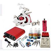 BaseKey Tattoo Machine Starter Kit, 1 pcs Tattoo Machines s 1 x 20 ml tetovaža tinte - 1 x čelika tetovaža stroj za obloge i sjenčanje