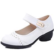 billige Dansesneakers-Kan ikke spesialtilpasses-Dame-Dansesko-Dansesko / Moderne-Lær-Kubansk hæl-Svart / Brun / Rød / Hvitt