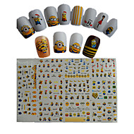11pcs  New  Cartoon  Lovely  Small  Yellow Doll Water Transfer Nail Art Stickers STZ075-085