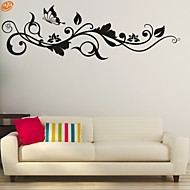 cheap Wall Stickers-AYA™ DIY Wall Stickers Wall Decals, Flower Vine PVC Wall Stickers