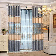 Two Panels Luxury Embroidery  Floral Curtain
