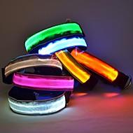犬 カラー LEDライト 調整可能 / 引き込み式 ナイロン レッド グリーン ブルー ピンク ランダムカラー