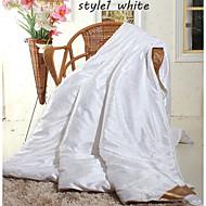 Winter Silk Comforters White Beige Pink