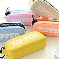 The Large Capacity Big Zipper Canvas Bag Student Pencil-Box Pencil Bags