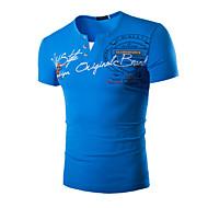 Majica s rukavima Muškarci Sport Slovo Print Pamuk
