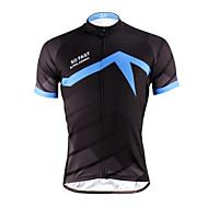 ILPALADINO Muškarci Kratkih rukava Biciklistička majica - Bule/crna Bicikl Biciklistička majica, Quick dry, Ultraviolet Resistant,