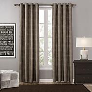 Et panel Window Treatment Moderne , Polka Prikker Soverom Polyester Materiale Blackout Gardiner Hjem Dekor For Vindu