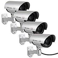 KingNEO 4pcs Outdoor Fake/Dummy Camera for Security Waterproof CCTV Surveillance