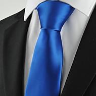 Krawat-Jendolity kolor(Niebieski,Poliester)