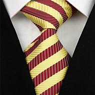 halpa -Solmio-Polyesteri,Raidallinen,Punainen / Keltainen