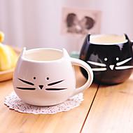 presentes copo 1pc 300ml bonito gato preto e branco cerâmico copo personalidade única taça rurais sentimentos amorosos
