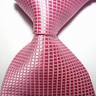halpa -miesten juhla / ilta vaaleanpunaiset tarkat jacquard-kudotut kravattiset solmukkeet