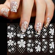 preiswerte 3D Sticker--Finger-3D Nails Nagelaufkleber-PVC-1sheetStück -14cm*6cmcm
