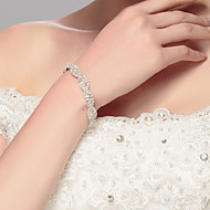 cheap Dazzling Accessories-Women's - Chain Silver Bracelet For Wedding Party Special Occasion