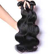 3pcs Lot 100% Malaysian Virgin Hair Body Wave Human Hair Extensions Natural Black Hair Weaves