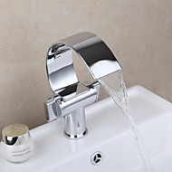 cheap Bathroom Sink Faucets-Bathroom Sink Faucet - Widespread Chrome Vessel Two Handles One Hole