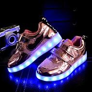 baratos Sapatos de Menino-Para Meninos Para Meninas Sapatos Sintético Tule Inverno Primavera Verão Outono Conforto Inovador Tênis com LED Tênis Sem Salto Franzido