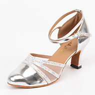 Women's Latin/Ballroom Dance Shoes Modern Heel Silver Customizable