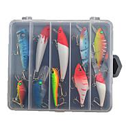 billiga Fiske-10 st Hårt bete Lock förpackningar Fiskbete Lock förpackningar Vibration Blyertspenna Veva Spigg Skedar Hårt bete Hårt Plast Sjöfiske