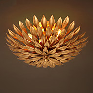 cheap Ceiling Lights-Europe Retro  Flowers Ceiling Light  Wrought Iron Ceiling Lamp Living Room