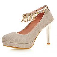 tanie Small Size Shoes-Damskie / Dla dziewczynek Derma Wiosna / Lato / Jesień Szpilka Fioletowy / Niebieski / Złota / Sukienka