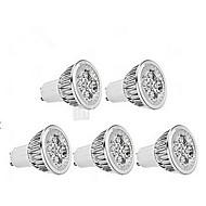 billige Spotlys med LED-5W GU10 LED-spotpærer MR16 1 leds Mulighet for demping Kjølig hvit 400-450lm 6000-6500K AC 220-240V