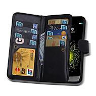 のために LGケース カードホルダー / ウォレット / フリップ / 磁石バックル ケース フルボディー ケース ソリッドカラー ハード PUレザー LG LG G5 / LG G4 / LG G3