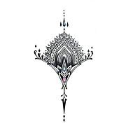 Outros - others - Tatuagem Adesiva - Non Toxic / Tamanho Grande / Tribal / Lombar / Waterproof / Metálico / Flash - paraFeminino / Adulto