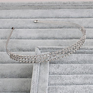baratos Acessórios de Cabelo de Noiva-Strass Headbands 1 Casamento Ocasião Especial Casual Escritório e Carreira Ao ar livre Capacete