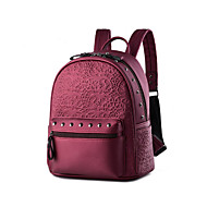cheap Backpacks-Women's Bags PU(Polyurethane) Backpack Rivet Solid Colored Black / Blue / Wine