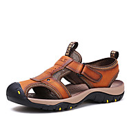 Men's Shoes Outdoor / Athletic / Casual Leather Sandals Brown / Khaki