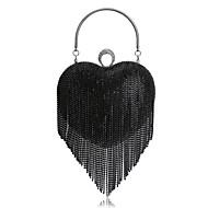 baratos Clutches & Bolsas de Noite-Mulheres Bolsas Poliéster Bolsa de Festa Pedrarias / Mocassim Preto / Prata / Arco-Íris