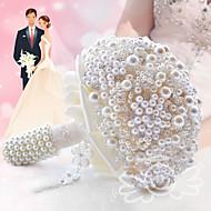 """פרחי חתונה עגול ורדים זרים חתונה חתונה/ אירוע פוליאסטר סאטן תחרה חרוז קצף אבן ריין מתכת גביש 7.87""""(לערך.20ס""""מ)"""