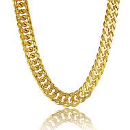 رجالي قلادات السلسلة مطلي بالبلاتينيوم مطلية بالذهب مخصص ذهبي قلادة مجوهرات من أجل هدية مناسب للبس اليومي فضفاض الرياضة شاطئ / القلائد