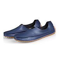 cheap Men's Slip-ons & Loafers-Men's Moccasin Nappa Leather Spring / Summer / Fall Comfort / Roller Skate Shoes Loafers & Slip-Ons Beige / Red / Blue / Wedding / Party & Evening