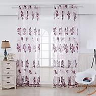 To paneler Window Treatment Rustikk Soverom Rayon Materiale Gardiner Skygge Hjem Dekor For Vindu