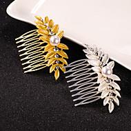 billiga Brudhuvudbonader-Pärla Kristall Legering Hair Combs 1 Bröllop Speciellt Tillfälle Hårbonad