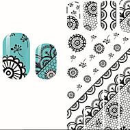 preiswerte -1 Nagel-Kunst-Dekoration Strass Perlen Blume Nagelkunst Design