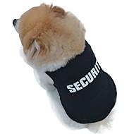 Gato Cachorro Camiseta Roupas para Cães Fantasias Fashion Casamento Polícia / Militar Preto Ocasiões Especiais Para animais de estimação
