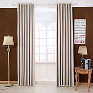 To paneler Window Treatment Moderne , Solid Soverom Rayon Materiale Blackout Gardiner Gardiner Hjem Dekor For Vindu