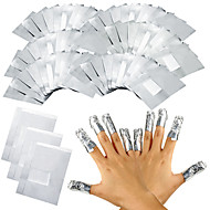 100pcs / lot aluminiumfolie nail art losweken acryl gel nagellak verwijdering wraps remover make-up tool