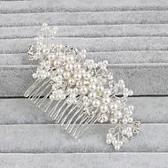お買い得  ウェディング髪飾り-真珠 フラワー - ヘアコンビ 帽子 1個 結婚式 パーティー カジュアル オフィス&キャリア アウトドア かぶと