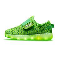 tanie Obuwie chłopięce-Dla chłopców / Dla dziewczynek Obuwie Tkanina Wiosna Wygoda / Świecące buty Adidasy Tasiemka / LED na Czerwony / Zielony / Niebieski