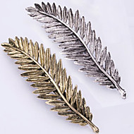 New Retro Metal Feather Hair Clips Han Edition Spring Clip Bang Clip 2 PCS