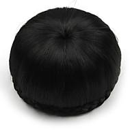 kinky krøllete svart menneskelige hår blonder parykker chignons 2