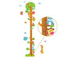 cheap Wall Stickers-60-180cm Animals Tree Height Stickers Removable Children's Bedroom Kindergarten Wall Stickers