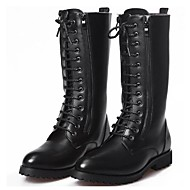 cheap Men's Boots-Men's Combat Boots Synthetics Fall / Winter Comfort / Roller Skate Shoes Boots 45.72-50.8 cm / Knee High Boots Black / Party & Evening